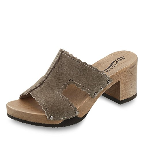 Softclox Nina, Mules pour Femme Olive