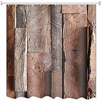 A.Monamour Rústico De Madera Marrón Vieja Granero Grano Puerta Art Decors Impermeable Moho Resistente