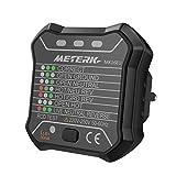 Steckdosen Tester Meterk Steckdosen Detektor Prüfstecker MK16EU 220V-250V Schwarz 1PCS