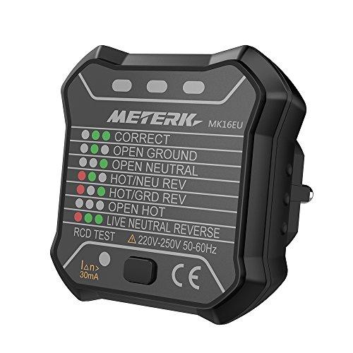 Steckdosen Tester Meterk Steckdosen Detektor Prüfstecker MK16EU ...