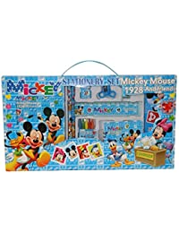 WonderKart® 10 In 1 Cartoon Printed Stationery & Birthday Return Gift Set For Kids - Blue