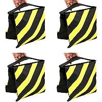 TARION® 4 x Ausgleichgewicht Sandsack Boxsack Sandtasche Sandbag als Gegengewicht für Stativ Gelb