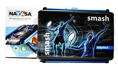Nayasa Superplast Notebook Smash Design Stainless Steel Lunch Box, Blue...