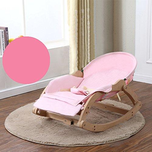 LZTET Baby Schaukelstuhl Liegestühle Beruhigende Vibration Komfort Stuhl Kind Schaukel Wiege BB Wiege Bett Schlaf Artefakt Massivholz,C