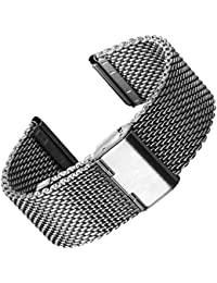 Bracelet de montre en acier inoxydable maille milanaise