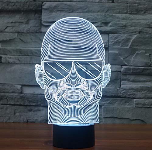 3D Illusion Lichter Sonnenbrillen Herren Stil Bunte Farbverlauf Led Vision Usb Batteriebetriebene Heimtextilien Kinderspielzeug Geschenke Nachtlichter
