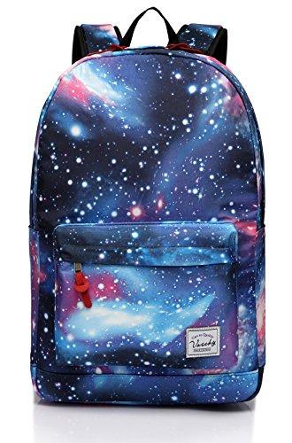Schulrucksack für Mädchen, Frauen Rucksack Vaschy Leichte Frauen Blumen Reise Rucksack Beiläufig Schultasche Galaxis