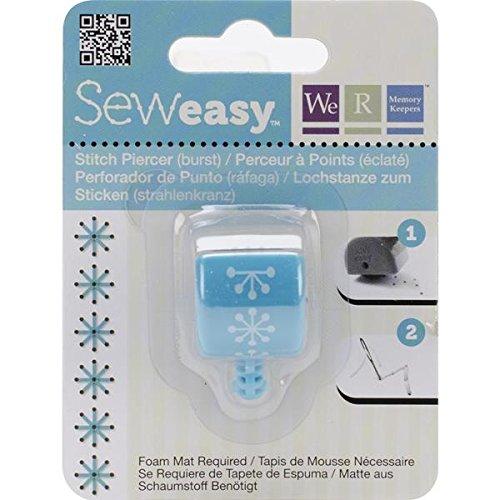 We R Memory Keepers Sew Easy Stitch Lochdorn Decke Head Burst blau (Sew Memory Keepers Easy R We)