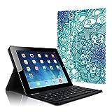 Fintie Tastatur Hülle für iPad 2 / iPad 3 / iPad 4 - Ultradünn leicht SlimShell Ständer Schutzhülle Keyboard Case mit magnetisch Abnehmbarer Drahtloser Deutscher Bluetooth Tastatur, smaragdblau