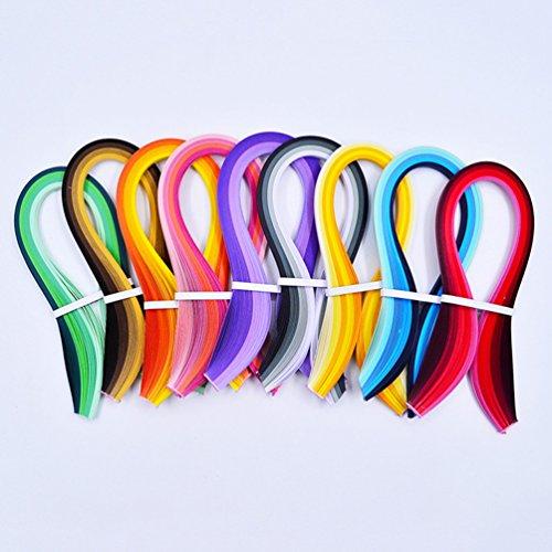 900Streifen Papier Quilling Streifen Kits (Breite 3mm/5/7mm/10mm, Länge 39cm) 10 mm Black/Blue/Brown/Green/Orange/Purple/Red/Yellow