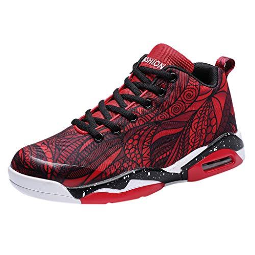 Precioul Laufschuhe Herren Damen Turnschuhe Sportschuhe Straßenlaufschuhe Sneaker Atmungsaktiv Trainer für Running Fitness Outdoor Verbinden Sie die Basketballschuhe