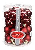 28 Christbaumkugeln GLAS 3cm Chianti ( dunkelrot weinrot bordeaux ) // Weihnachtskugeln Baumkugeln Baumschmuck Weihnachtsdeko Kugeln Glaskugeln Spiegelbeeren Dose