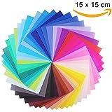 Paquete de 100 Hojas de Papel Para Origami (15 x 15 cm, 80 gsm) 50 Colores Papel Para Papiroflexia