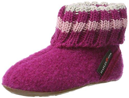 Haflinger Unisex-Kinder Everest Pablo Hohe Hausschuhe Pink (Kardinal)