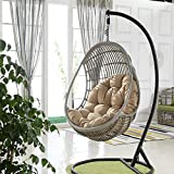 Nido D'uovo Sagomato Cuscini, Cestino Cuscini Vimini in Rattan Swing Cuscini per Sedia Appendere L'amaca Cerniera Lavabile Niente sedie-90x120 cm,Diversi Colori