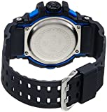 SKMEI Analog-Digital Black Dial Mens Watch-AD1117 (BLK-BLU)