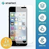 [2x MATT] Panzerglas Folie für iPhone SE / 5 / 5s / 5c • Panzerfolie mit 9H Härte • Blasenfreie Montage der Folie • Ultra-Dünn (0.3 mm) • Gerundete Kanten (2.5D) • Anti-Fingerabdruck