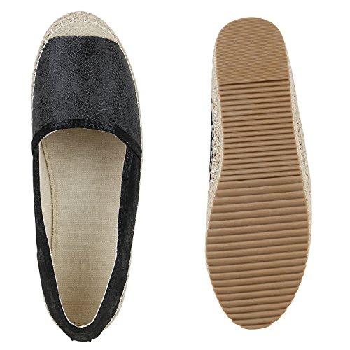 ce2f1e2209 ... Damen Espadrilles | Metallic Slipper |Bast Profilsohle Flats | Freizeit  Schuhe | Glitzer Prints Spitze