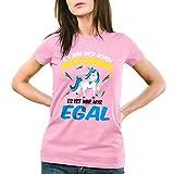 CottonCloud Ich hab dich schon verstanden - es ist mir nur egal Damen T-Shirt Einhorn Unicorn, Farbe:Pink;Größe:XS