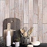 Adesivo per Mobili Grigio, Rinnovo Adesivi per Pavimenti Effetto legno Adesivi Murali Carta da Parati Rimovibili da Cucina Soggiorno Camera da Letto Decalcomanie Impermeabili,20cm*5m