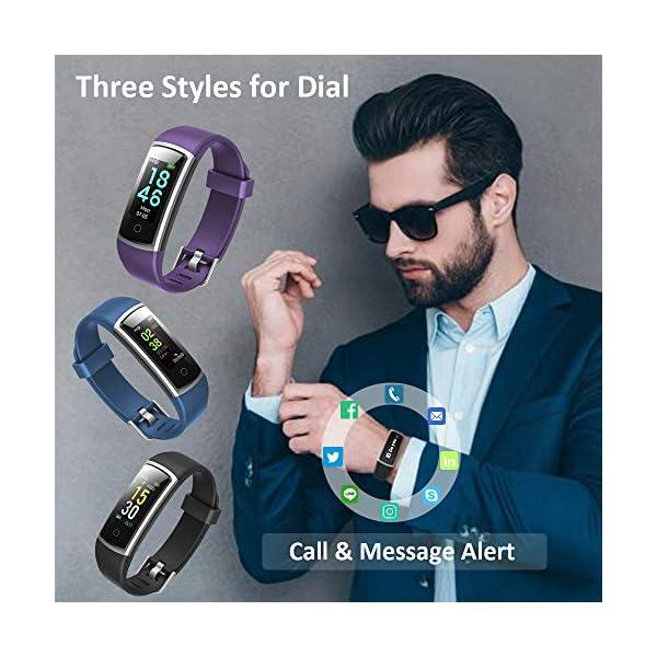 Lintelek Pulsera Actividad Impermeable, Reloj Inteligente con Pulsómetro y Tensiómetro, Reloj Deportivo con GPS Compatible a Android y iPhone 3