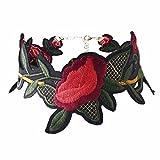 QIYUN.Z Frauen Retro Blumenstickerei Ethnische Böhmische Kette Choker Halskette