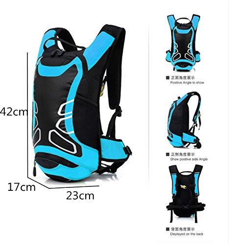 Wandern Rucksack Outdoor 12L Wasserdichte Reise Bergsteigen Fahrrad Radfahren Tasche Schulter Rucksack Blue