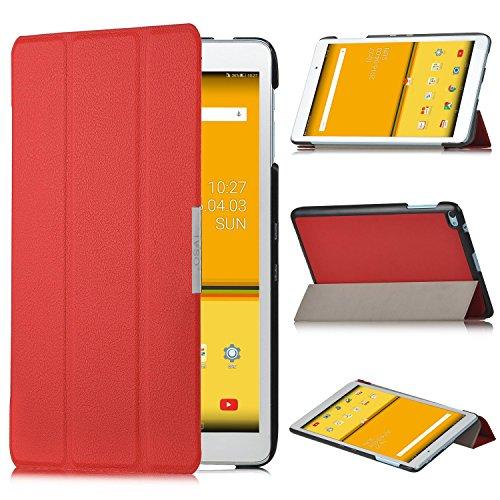 HuaWei MediaPad T2 10.0 Pro Hülle - IVSO Ultra Schlank Superleicht Ständer Slim Leder zubehör Schutzhülle für Huawei MediaPad T2 10.0 Pro 25,7 cm Tablet-PC perfekt geeignet (Für Huawei MediaPad T2 10.0 Pro, Rot)