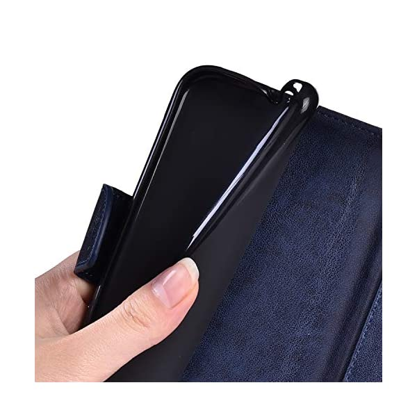 Libro Billetera Funda Samsung Galaxy A50 Funda Cuero Caja Cartera Funda Cuero en TPU Silicone Funda Folio Flip Carcasa… 5