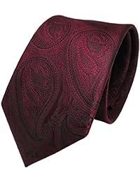 TigerTie Designer Krawatte in paisley muster - Krawatte Klassischer Schnitt