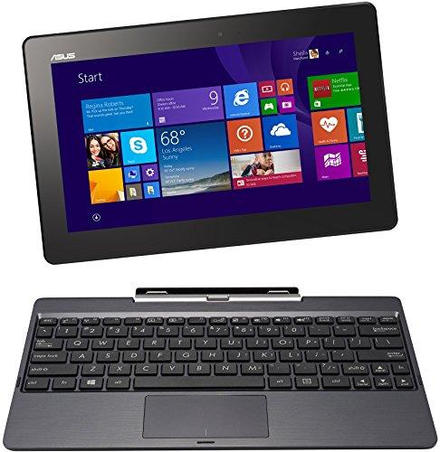 Asus T100TAM-BING-DK012B 25,7 cm (10,1 Zoll) Convertible Tablet-PC (Intel Core 2 Quad Atom Z3775, 2GB RAM, 32GB eMMC, Intel HD, Touchscreen, Win 8.1) grau