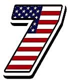 Startnummer Nummer Zahl Auto Moto Vinyl Aufkleber Sticker Motorrad Motocross Motorsport Racing Nummer Tuning Flagge Fahne Vereinigte Staaten Von Amerika USA United States of America (7), N 307
