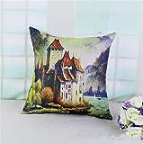 Wmshpeds Lino e cotone cuscino biancheria paesaggio divano cuscini cuscini cuscino sedile ufficio coperchio cuscini