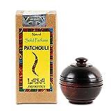 Lasa Aromatics pachuli Natural sólido Perfume cuerpo almizcle en tarro de madera–6mm