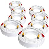 8 Pack Of 125ft 125 Feet All-In-One Siamese Video And Power BNC Cable For CCTV HD Security Camera Surveillance System