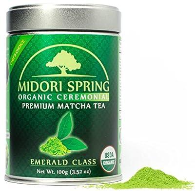 Midori Spring Poudre de matcha pour boissons, pâtisseries et thé