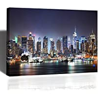Stampa su Tela New York Quadro Canvas Moderno 80x52cm