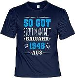 T-Shirt zum 70. Geburtstag - Leiberl Geschenk zum 70 Geburtstag 70 Jahre Geburtstagsgeschenk 70-jähriger Papa - So gut Sieht Man mit Baujahr 1948 aus Gr: L