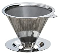 JavaPresse Pour Over Coffee Maker with Stand | Clever Hand Drip Brewer with Reusable Filter Dripper