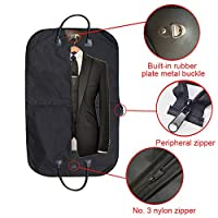 xiegons0 Suit Carrier Bag, Clothes Covers with Handles for Travel, Oxford Cloth Foldover Breathable Garment Bag for Suits, Dresses, Business Clothes