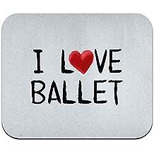 I Love Ballet escrito en papel ratón Mousepad