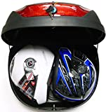 Scooter Top Boxes - 51L Satin box top nero, Retro box, Scatole di stoccaggio per i motocicli