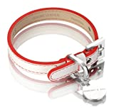 Hennessy & Sons 71002/06 Hundehalsband Polo, weiß/rot, S, 20-27 cm