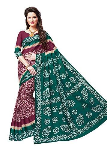 Vinay's Sarees Pure Cotton Saree For Women with Blouse Piece Wax Batik...