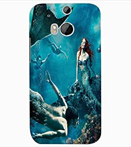 ColourCraft Underwater Creatures Design Back Case Cover for HTC ONE M8
