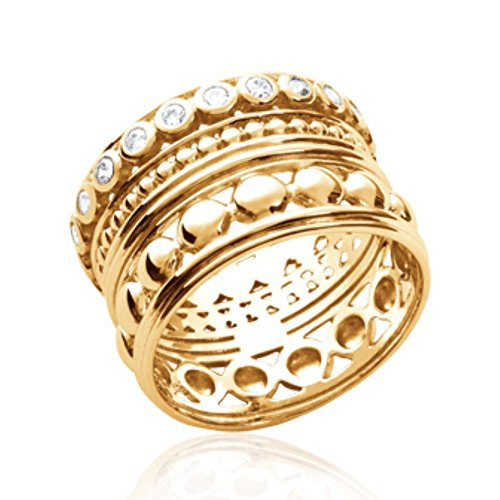 9a62af565ad4a5 ISADY - Texas OZ Gold - Bague femme - Plaqué Or 750 000 (18