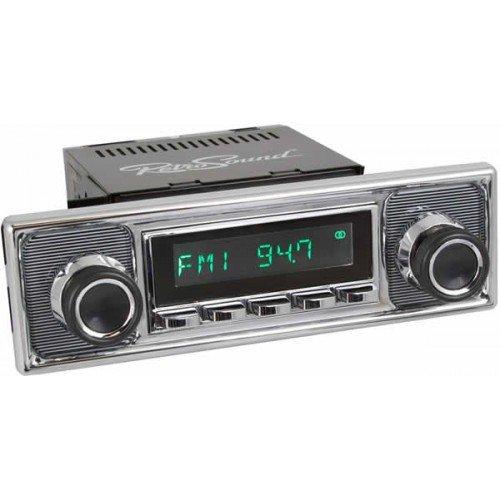 RETROSOUND MODEL 2Radio Becker Nadelstreifen chrom Stil mit Bluetooth AUX USB