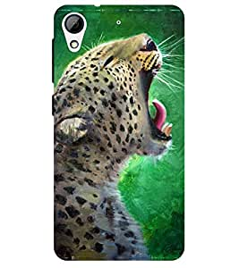 Chiraiyaa Designer Printed Premium Back Cover Case for HTC Desire 628 (tiger lion painting) (Multicolor)