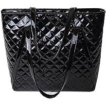 72ba36272be0c AiSi Damen Lack Leder spiegelte Gitter Handtasche Damenhandtasche   Schultertasche Shopper  Umhängetaschen