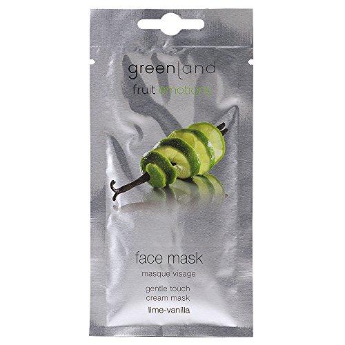Greenland Gesichtsmaske Limette Vanille | Beruhigende Crememaske für trockene Haut | Verwöhnende & Pflegende Feuchtigkeitsmaske für sensible Haut